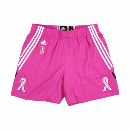 Breast Cancer Awareness WNBA Adidas Pink Breast Cancer Awareness Authentic On-Court Game Shorts For Women