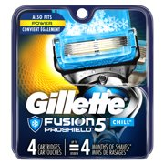 Gillette ProGlide Chill Mens Razor Blade Refill Cartridges, 4 ct