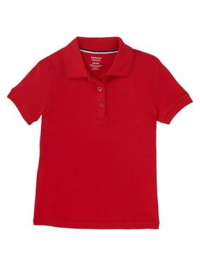 French Toast Girls School Uniform Short Sleeve Picot Collar Interlock Polo Shirt (Little Girls & Big Girls)