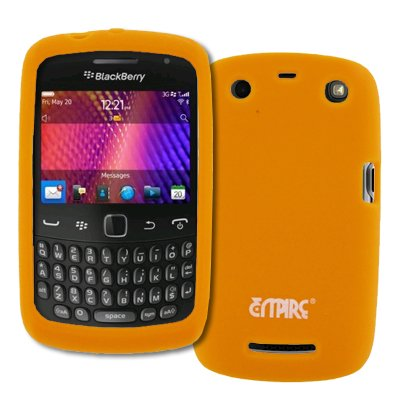 EMPIRE Orange Silicone Skin Case Cover for BlackBerry Curve 9360 (Blackberry Curve 9360 Accessories)