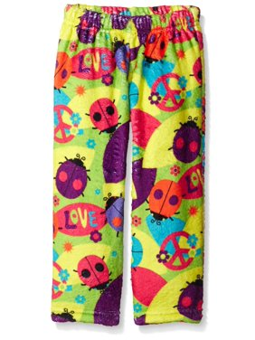 Up Past 8 Big Girls'  Fuzzy Pajama Pant, Love Bugs, Size: 10