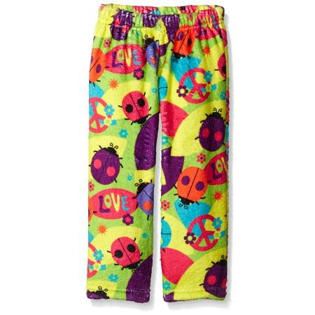Fuzzy Little Monkeys - Up Past 8 Big Girls'  Fuzzy Pajama Pant, Love Bugs, Size: 10