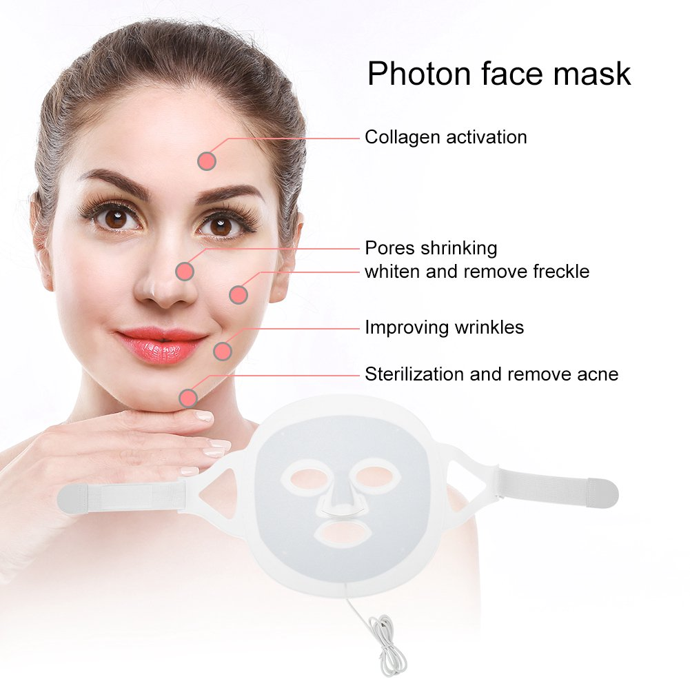 Sonew LED Photon Mask,3 Colors LED Light Photon Face Mask Skin Rejuvenation  Acne Removal Skin Beauty Device, Skin Beauty Device | Walmart Canada