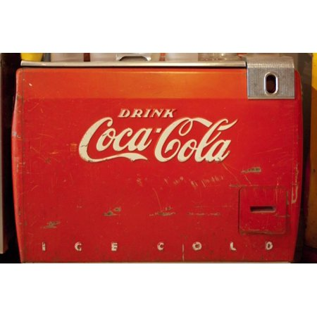 Vintage Drink Coca Cola Ice Cold Coke Vending Machine Photo Poster Print Wall Art](Coca Cola Halloween Advertising)