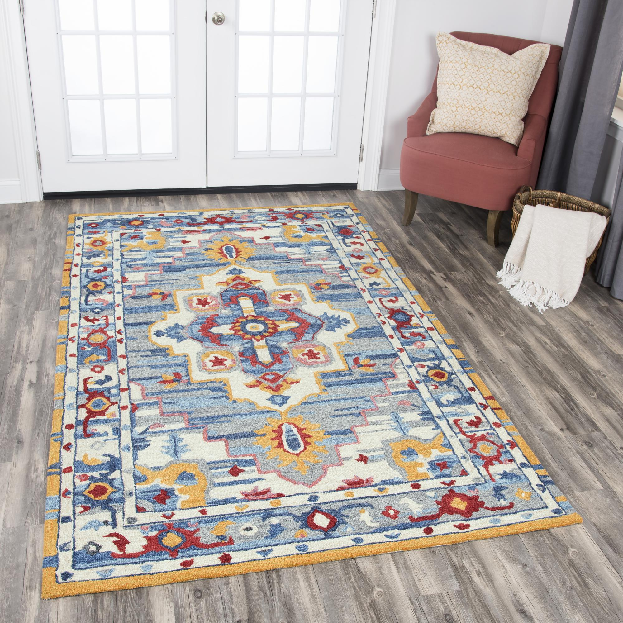Rizzy Home ZI021B Natural 9' x 12' Hand-Tufted Area Rug