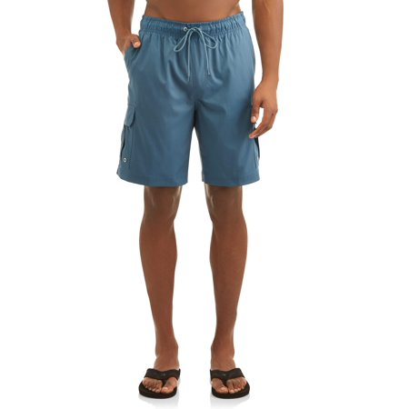 Check Swim Trunks (Men's Cargo 9-inch Swim Trunk, up to Size 5XL )