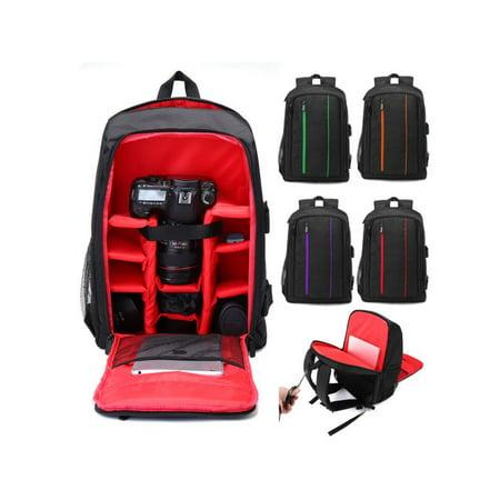 Moaere Digital SLR Camera Backpack Laptop Lens Case Shoulder Storage Bag with Rain Cover for  Tripod and Accessories Digital Camera Backpack Bag