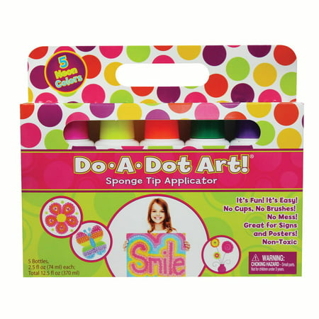 Do•A•Dot Art!™ Fluorescent Markers, 5 colors