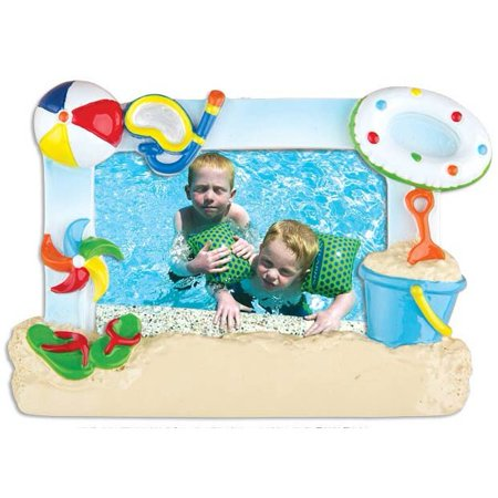 PERSONALIZED CHRISTMAS ORNAMENTS PICTURE FRAME- 1ST DAY AT THE BEACH FRAME KIT