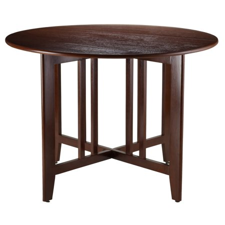 Alamo 42u0022 Double Drop Leaf Table Wood/Walnut - Winsome