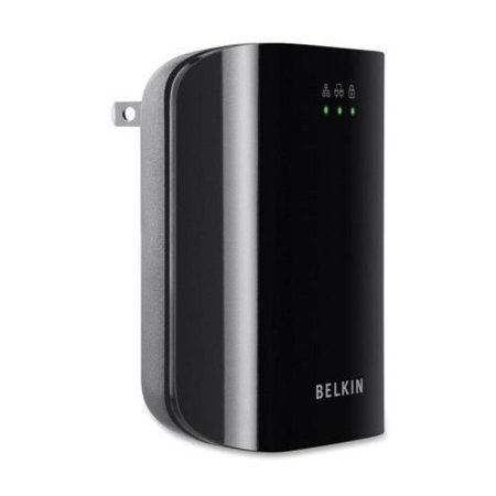 Belkin F5D4077 Powerline Network Adapter Kit - 1 x Powerline - 200 Mbps