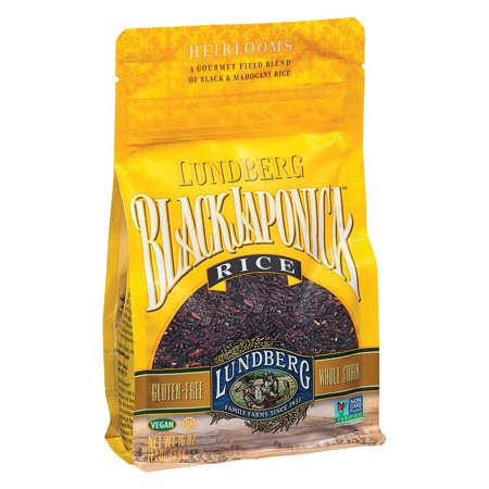 - Lundberg Family Farms Eco - Farmed Gourmet Black Japonica Field Blend Rice - Pack of 6 - 1 Lb.