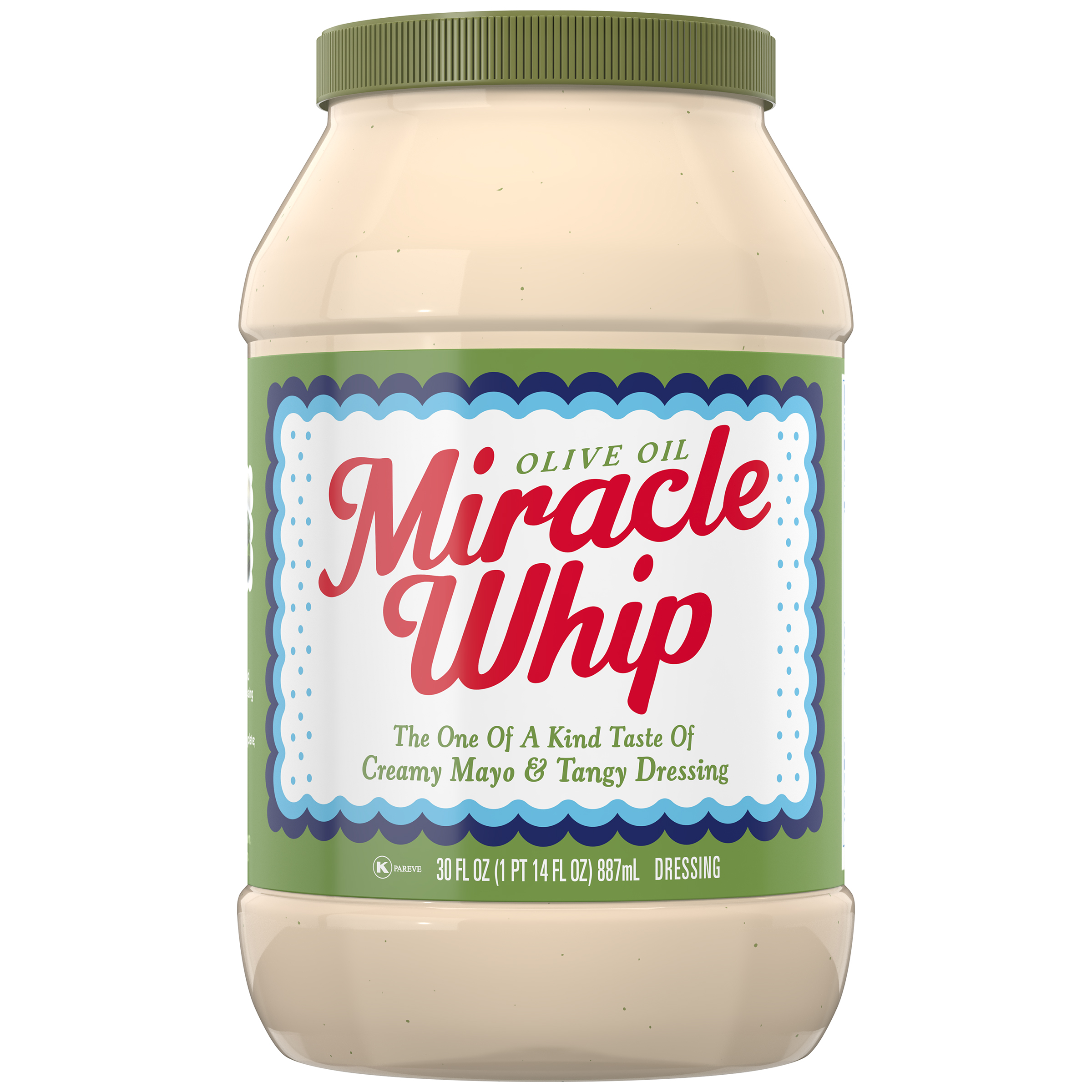 Kraft Miracle Whip Mayo Dressing Olive Oil Reduced Fat, 30 fl oz