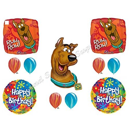 Ruh Roh SCOOBY DOO Happy Birthday Party Balloons Decoration Supplies Shaggy Paw - Scooby Doo Birthday Supplies