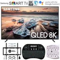 "Samsung QN75Q900RB 75"" Q900 QLED Smart 8K UHD TV + 1 Year Warranty (2019 Model)(Renewed) Flat Wall Mount Bundle + Deco Gear 2.4GHz Wireless Keyboard Smart Remo QN75Q900RBFXZA 75Q900RB QN75Q900RB"