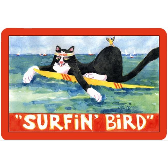 Black And White Cat Surfin Bird Mouse Pad, Hot Pad Or Trivet