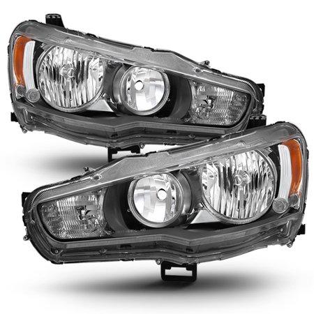 Fit 2008-2017 Lancer 08-15 Evolution EVO X Halogen Type Headlights (Lancer Headlamp)