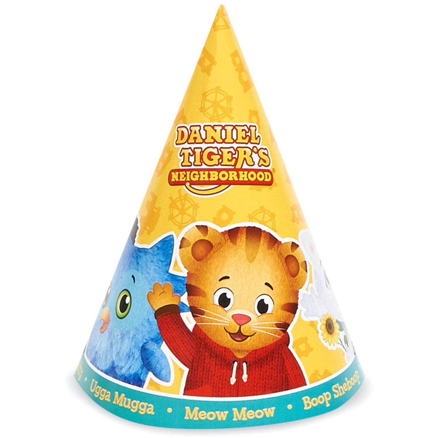 Daniel Tiger's Neighborhood Cone Hats, 8-Pack