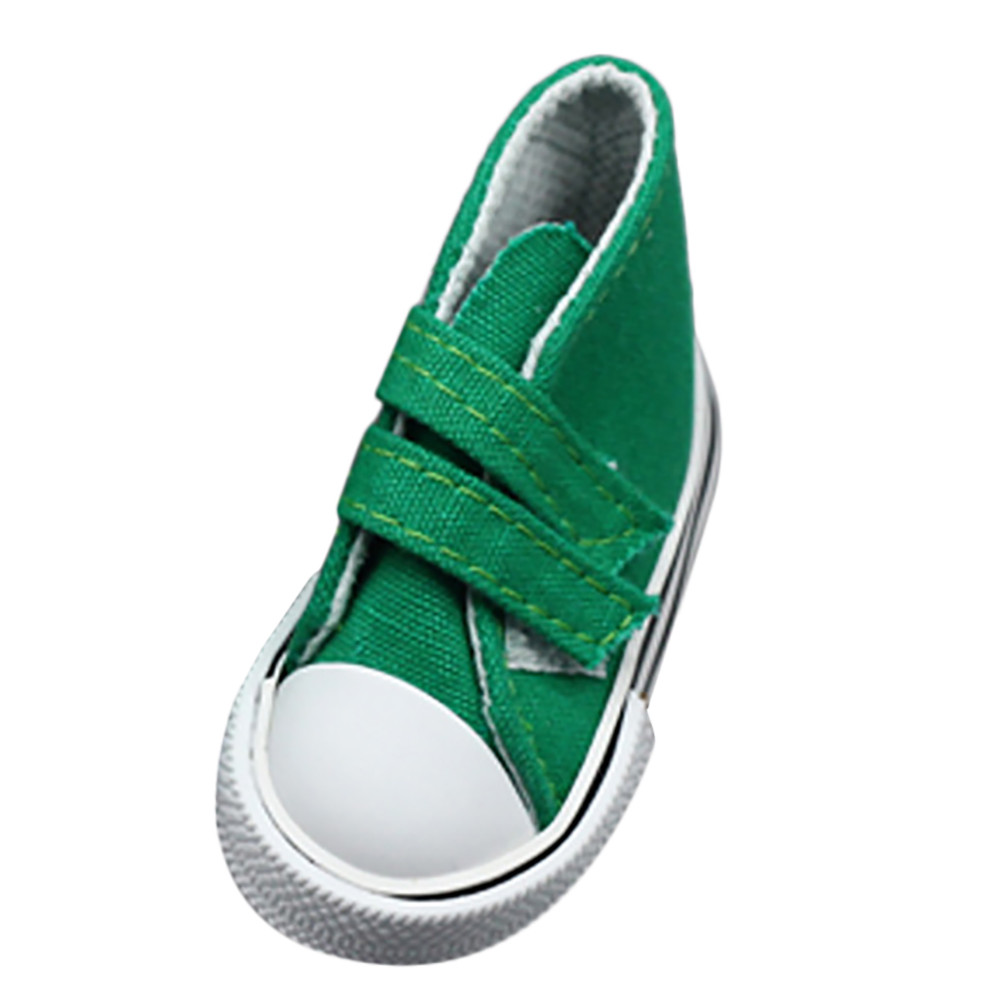 New Fashion Canvas Magic Sticker Sneakers Shoes For 18 inch American Girl & Boy Dolls BK