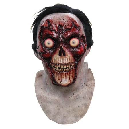 Bloody Face Off Horror Halloween Costume Mask](Ghoulish Halloween Faces)