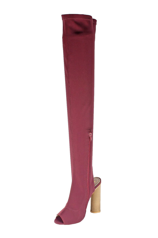 Springland Over Knee Long Boots FANI-8-Burgundy