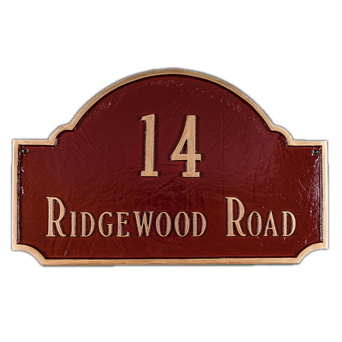 Montague Metal Products Inc. Fitzgerald Standard Address Plaque