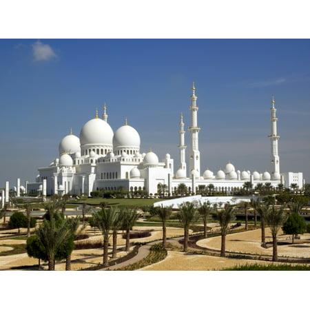 Sheikh Zayed Bin Sultan Al Nahyan Grand Mosque Abu Dhabi United Arab Emirates Poster Print