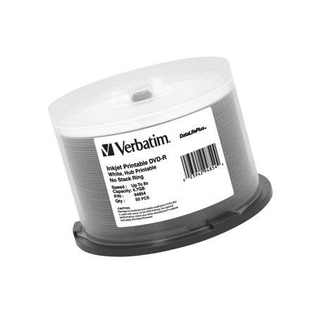 Verbatim DVD-R 4.7GB 8X DataLifePlus White Inkjet Printable, Hub Printable 50... ()