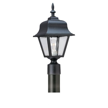 Outdoor Post Top Lantern (Sea Gull Outdoor Post Lantern - 16.25H in. Black )