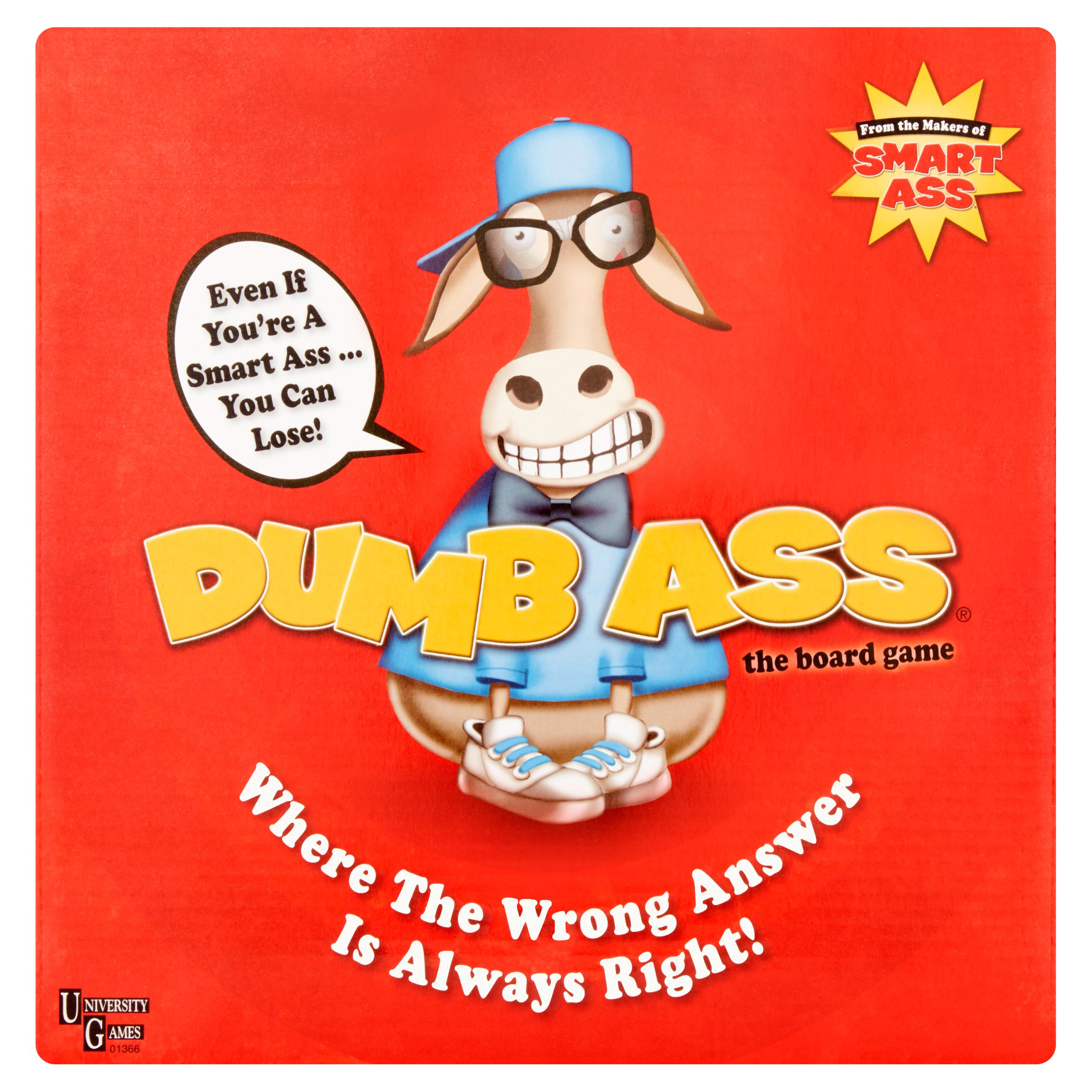 University Games Dumb Ass The Board Game Ages 14 and Up