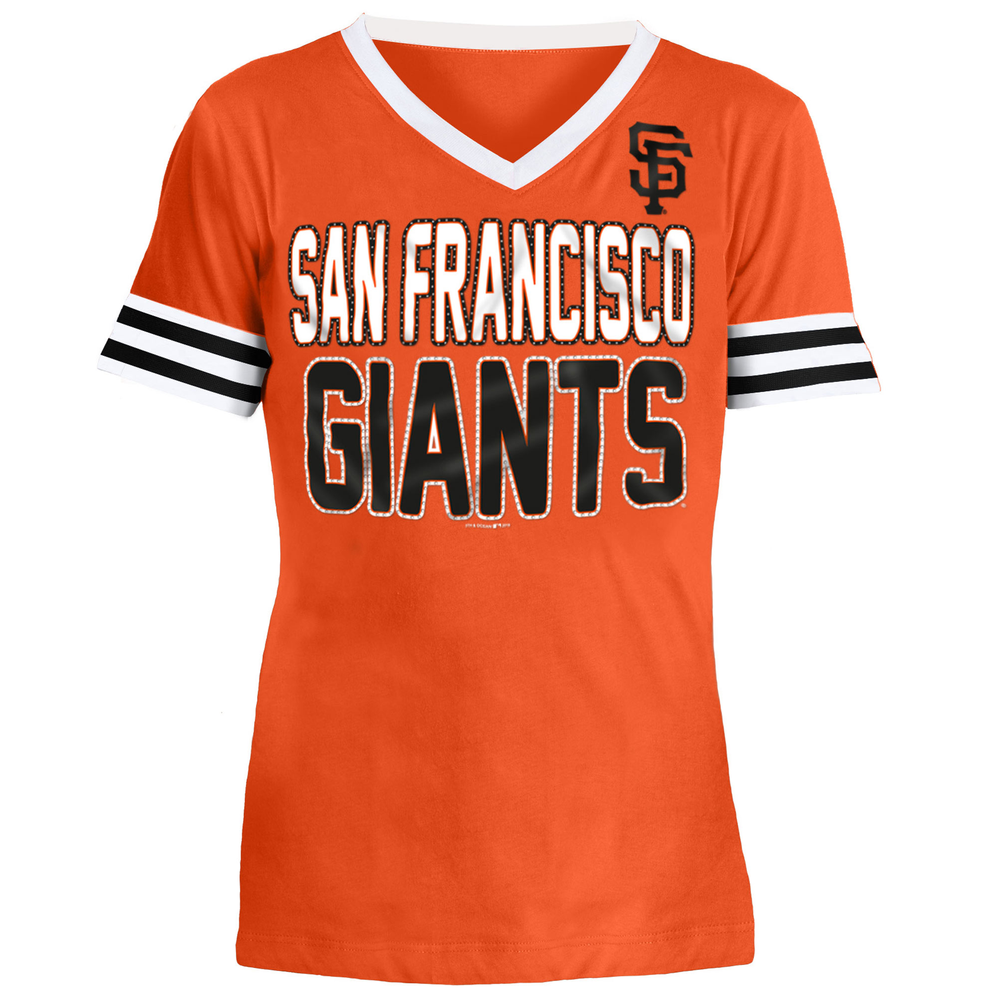 San Francisco Giants 5th & Ocean by New Era Youth Jersey T-Shirt with Contrast Trim - Orange