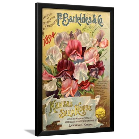 Seed Catalog Captions (2012): F. Barteldes and Co. Price List and Descriptive Catalogue Framed Print Wall Art