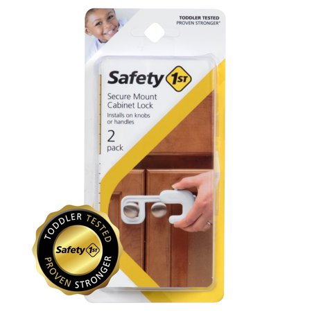 Secure Mount Home Safety Cabinet Lock (2pk) (Sanus Pull Out Cabinet Mount)