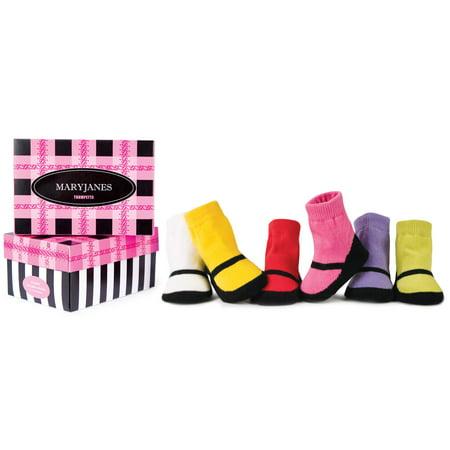 Baby Girls' Maryjane Bright Socks 6-pack (0-12 mo.)
