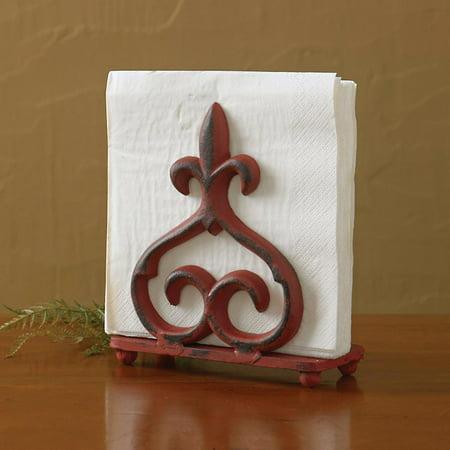 Ceramic Napkin Holder - Red Rue du Marche Napkin Holder