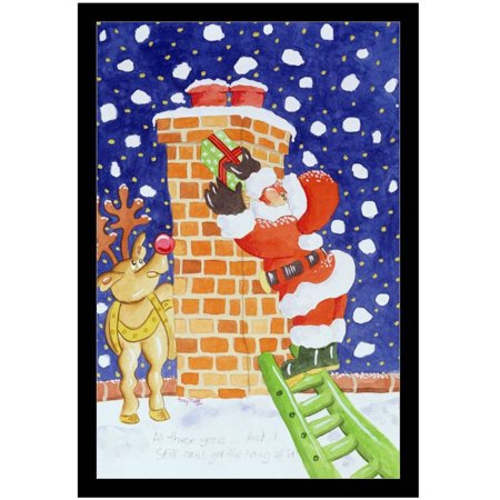 Present From Santa, 2005 by Eazl Black Canvas Image Box