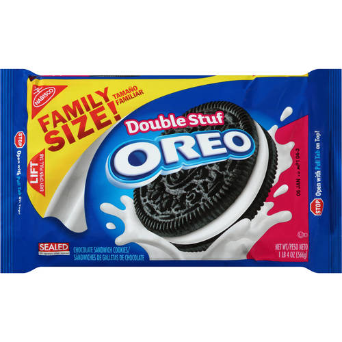 Oreo Double Stuf Cookies, Family Size, 20 Oz