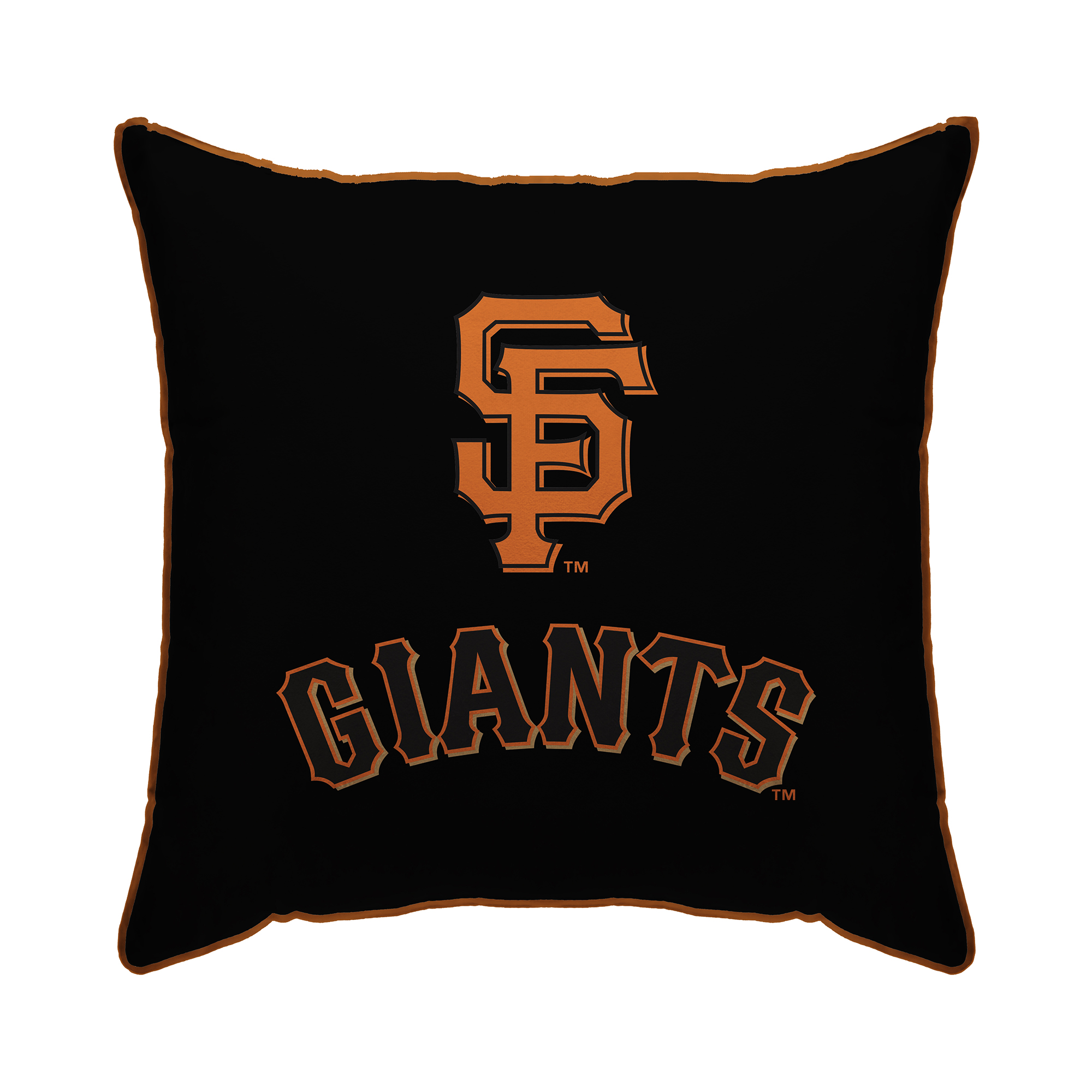 "San Francisco Giants 18"" x 18"" Plush Team Logo Decorative Throw Pillow - Black - No Size"