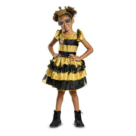 L.O.L Dolls Queen Bee Deluxe Child Halloween Costume - Prom Queen Halloween Costume Uk
