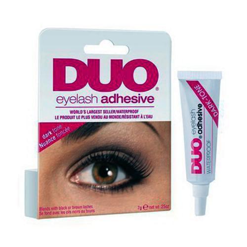 Duo Water Proof Eyelash Adhesive, Dark Tone - 0.25 Oz, 6 Pack