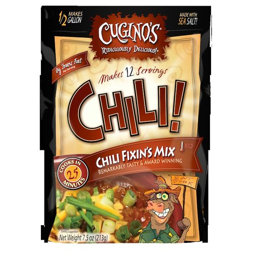 Cugino's Mild Chili Fixin's Seasoning Mix Soup, 7.5 oz