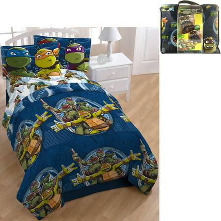 Nickelodeon Teenage Mutant Ninja Turtle Bed in a Bag 5 ...