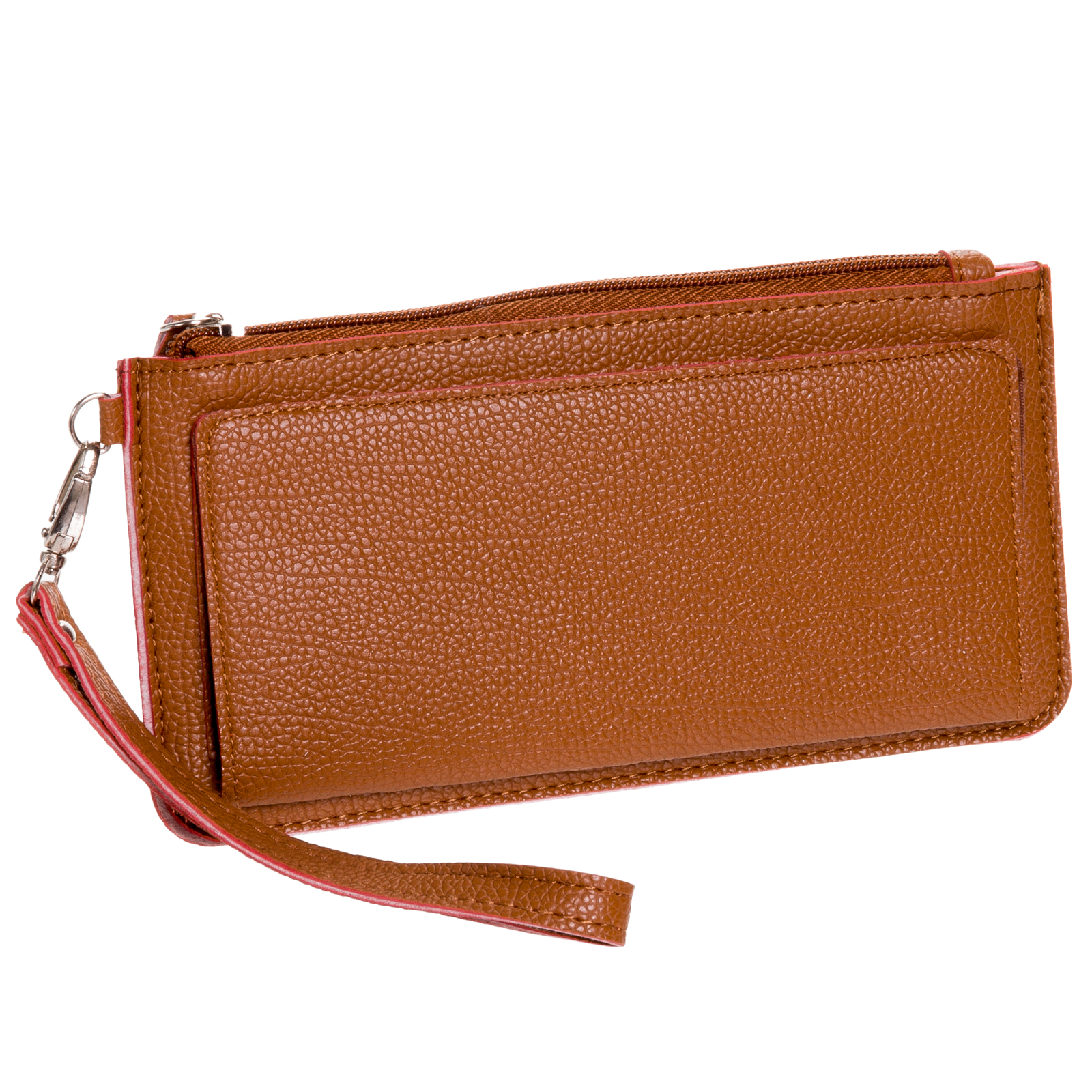 Women's Faux Leather Thin Card Slot Clutch Wristlet Wallet w/ Gift Box NEW