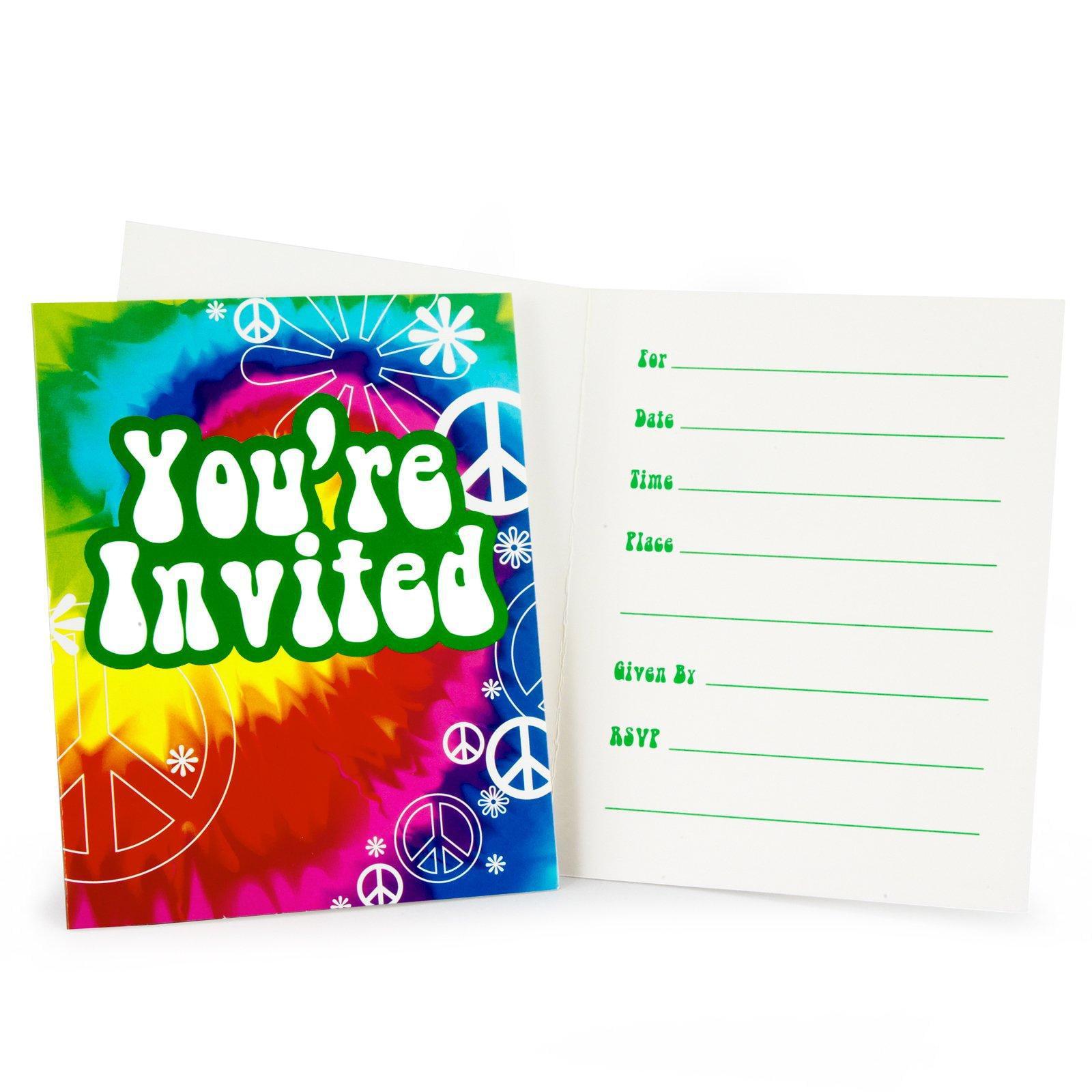Tie Dye Fun Invitations