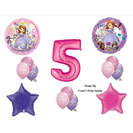 1 X Disney's SOFIA THE FIRST FIFTH 5TH Happy Birthday PARTY Balloons Decorations Supplies - Sofia The First Birthday Party Decorations