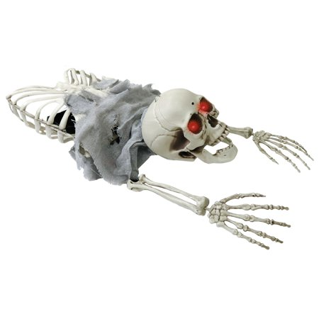 Halloween Animated Crawling Skeleton Pirate Groundbreaker Grave Prop Decoration
