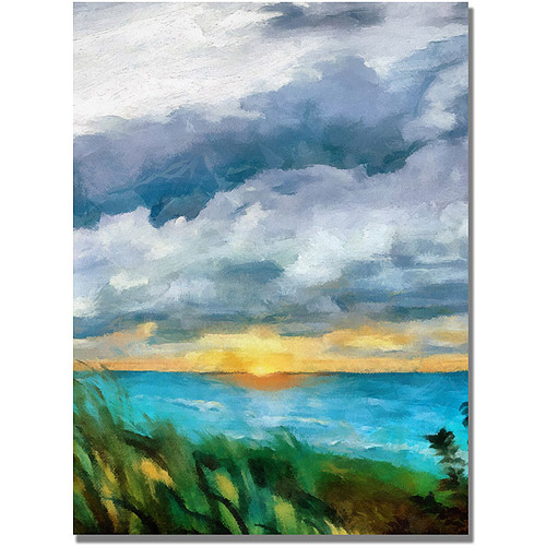 """Trademark Fine Art """"Sunset over the Lake II"""" Canvas Art by Michelle Calkins"""