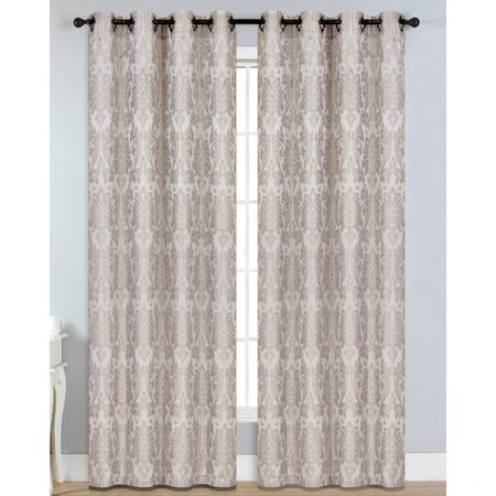 Veronica Jacquard Extra-Wide Grommet Curtain Panels ()