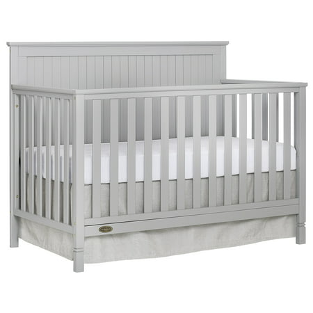 - Dream On Me Alexa 5 in 1 Convertible crib, Pebble Gray