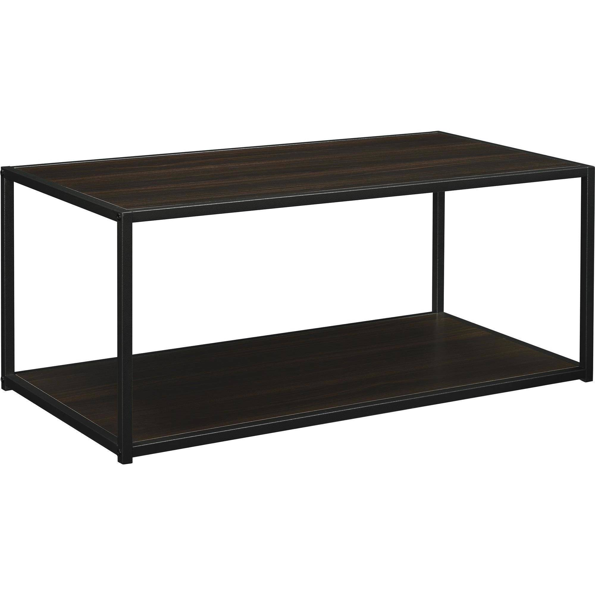 Ameriwood Home Canton Coffee Table with Metal Frame Distressed